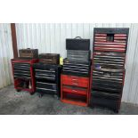 LOT OF TOOLBOXES