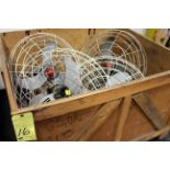 LOT OF WALL MOUNTED FANS (in one box)