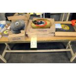 LOT OF GRINDING ACCESSORIES, w/table