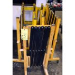 LOT OF PORTABLE FOLDING SAFETY BARRIERS, ULINE