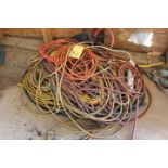 LOT CONSISTING OF: electrical cords & assorted hose