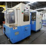 "CNC HORIZONTAL MACHINING CENTER, MAZAK MDL. H400, new 1990, Mazatrol M32 CNC control, 15.7"" sq."