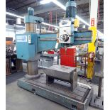 """RADIAL ARM DRILL, SOUTHBEND 5' X 11"""", #5 MT spdl., spds: 40-1750 RPM, pwr. elevation, tilting box"""