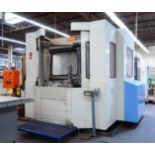 "CNC HORIZONTAL MACHINING CENTER, MAZAK MDL. FH680X, new 1996, Mazatrol M Plus CNC control, 24.7"" sq."
