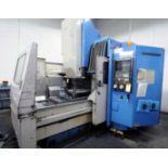 "CNC VERTICAL MACHINING CENTER, MAZAK MDL. AJV25405, new 1987, Mazatrol Cam M2 CNC control, 39"" X,"