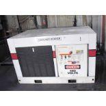 ELECTRIC SCREW TYPE AIR COMPRESSOR SYSTEM, GARDNER DENVER MDL. EDE95M, 6-D air dryer, oil/water
