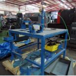 """SWEDGING MACHINE, CUSTOM , (2) stations: 1-1/2"""" and 2"""" cap., Enerpac pwr. Supply (Location C -"""