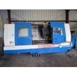 """CNC SLANT BED LATHE, DAEWOO PUMA 15, new 1992, 31.1"""" sw. over bed, 21"""" over carriae, 26"""" max."""