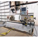 """CNC LATHE, HAAS MDL. TL3, new 9/2008, 20"""" swing over apron, 13"""" swing over cross slide, 60"""" betw."""