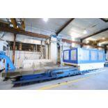 CNC HORIZONTAL BORING MILL, HNK MDL. HB-130CX, new 12/2000, Fanuc Series 16M CNC control, 130mm