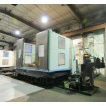 "CNC HORIZONTAL BORING MILL, DOOSAN MDL. DB130CX, new 7/2007, Fanuc 18i-MB CNC control, 63"" x 71"""