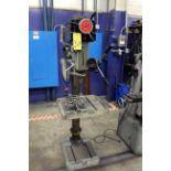 PEDESTAL DRILL PRESS, VECTRAX MDL. 00492103, adj. height table, variable spds: 300-2000 RPM