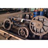 STORAGE RACK, steel fabricated, w/misc. tooling, facing head, machine vise, etc.