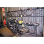 LOT OF TOOLING, misc. (located on floor, steel rack & wall)