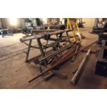 STORAGE RACK, steel fabricated, w/contents