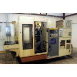 "CNC HORIZONTAL MACHINING CENTER, OKUMA-HOWA MDL. MILLAC-4H, new 4/1984, Fanuc 6M CNC control, 20"""