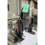 Milwaukee Cat #4231 electromagnetic drill press W/ Milwaukee Cat #4297-1 drill
