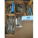 Five boxes of end mills