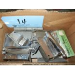 Box of assorted hinges
