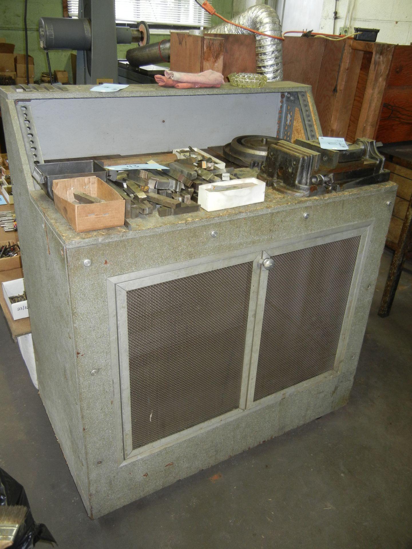 Shop cabinet on wheels
