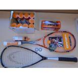 Lot of Squash Equipment