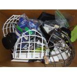 Box of Misc Hockey parts