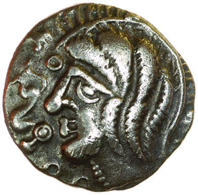 Whaddon Bird. c.55-45 BC. Celtic silver unit. 13mm. 1.16g. - Image 2 of 2