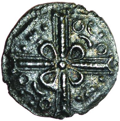 Sam Pentagram. c.AD 1-15? Celtic silver unit. 13mm. 0.89g.