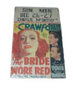1937 - Bride Wore Red - US Window Card - Vintage Poster for this Joan Crawford classic. Superb