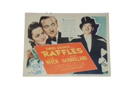 1939 - Raffles - Title Card - Superb image of David Niven as Raffles the gentleman thief and the