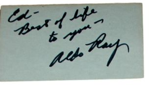 Aldo Ray - Hollywood Actor in We're No Angels, Pat & Mike, Battle Cry, The Green Berets - Album Page
