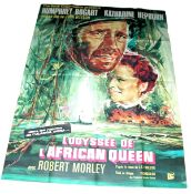 1951 - African Queen (The) - French Grande - Spectacular art for the Re Release campaign in France