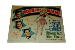 1941 - Moon Over Miami - Title Card - Vintage art from the period featuring the principal actors -