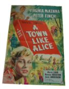 1956 - A Town Like Alice - UK One Sheet - This lot consists of a Vintage Stone Litho Art of