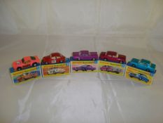 A group of boxed Matchbox Superfast cars to include numbers: 8, 15, 22, 24 and 25. G in F-G boxes (