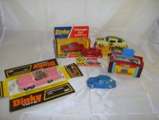 A group of mainly boxed cars by Dinky and others to include a Dinky Toys Lady Penelope's Fab 1. G in