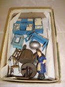 A Dinky diecast 103 Kitchen Furniture set together with other accessories, P-F Unboxed.