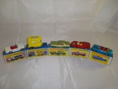 A group of boxed Matchbox Superfast models to include numbers: 27,43,62, 68 and 69. G-VG in G