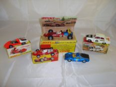 A selection of Dinkycars to include a boxed 202 Fiat Abarth, a boxed 242 Ferrari, a boxed 225