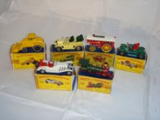 A group of boxed Matchbox Models of Yesteryear in original style boxes and a Matchbox King Size F-
