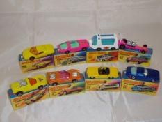 A group of boxed Matchbox Superfast models to include numbers: 33, 40, 46, 64, 14, 27, 4 and 1. G in