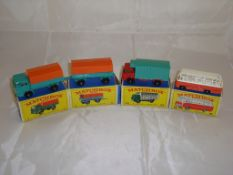 A group of Matchbox vehicles to include a boxed number 1 and number 2 (truck and trailer) a number