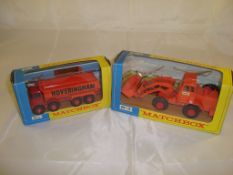 A pair of construction King-Size Matchbox vehicles to include a K-1 Dumper truck and a K-3 Digger.