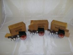 A group of three vintage boxed 40F Farm Horse and cart models by Britains (3) G-VG in F boxes (