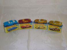 Four boxed Matchbox Superfast cars to include numbers 14, 20, 33 and 56. G-VG in G boxes (4)