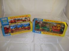 A pair of Matchbox King-Size lorries in boxes to include a K-20 King Size tractor transporter and