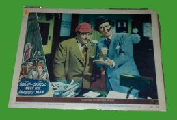 1951 - Abbot & Costello Meet the Invisible Man - Lobby Card - This lot consists of a Scene Card