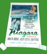 1953 - Niagara - US One Sheet. Marilyn Monroe features in a superb dress that morphs into the Niagra