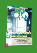 1973 - Monty Python's 1st Farewell Tour (Canada) - Centennial Hall. Condition: Poor to Fair (tears