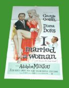 1958 - I Married a Woman - US One Sheet. Superb artwork of Diana Dors the Swindon girl who made it